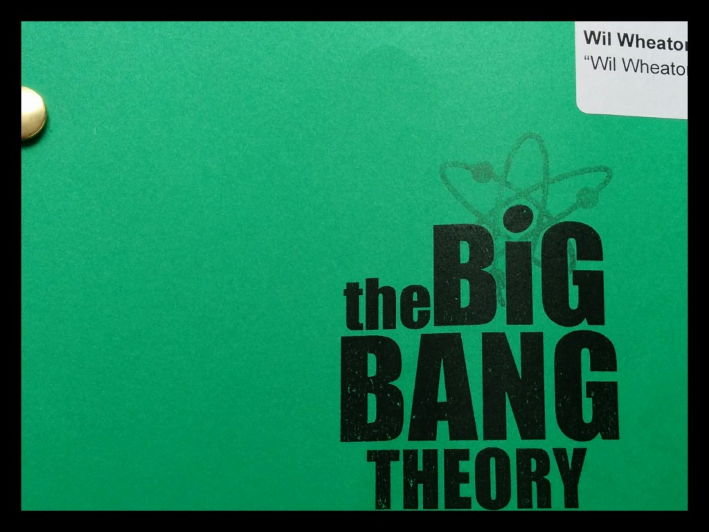 Wil Wheaton Big Bang Theory Script